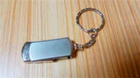 Key Chain 10pcs 32GB 64GB 128GB 256GB USB 2.0 in acciaio inox rotat USB 2.0 USB Key catena Swivel Flash Drive pendrive