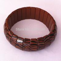 Wholesale Tourmaline Silicone Bracelet - New Cheap Health Bracelets Fashion Tourmaline Health Energy Germanium Bracelet Benefit Zebra Strip Trendy Tourmaline Bracelets