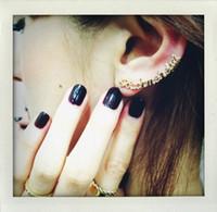 Wholesale Ear Cuff Supplies - Fashion Letter Ear Cuff earrings Wrap Clip Earrings Retro Crystal alloy Punk earrings Factory direct supply