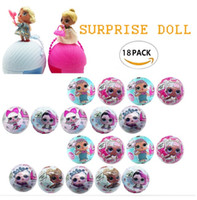 Wholesale Naked Dolls - 3pcs set Big size 10cm LOL Surprise Blind Mystery Ball Toys L.O.L Doll Series 1 Let be friends Fun Dolls Naked Ball