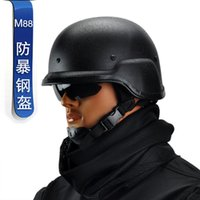 Wholesale Fans Manufacturers - Wholesale-Best quality American PASGTM88 helmet manufacturers selling tactics riot troops fan outdoor helmet All steel quality