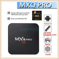 Wholesale Xbmc Tv Box - Latest MXQ Pro Quad Core Android OTT TV Box 4k 1080p Android 5.1 XBMC Amlogic S905 MXQ Pro 2.0GHZ in retail box VS M8,M8S,MXIII,CS918