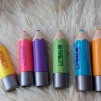 Wholesale Funny Shapes - Professional Lip Balm Crayons Funny Pencil Shaped Moisturizer Lip Stick Balm Gloss Tool HS11