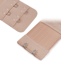 Wholesale Bra Extensions - Nude Bra Extender Extension 7.6*3.3 cm Elastic 2 Row 2 Hooks Clip On Strap Soft 1 Pcs Bra Band Extenders Intimates Accessories