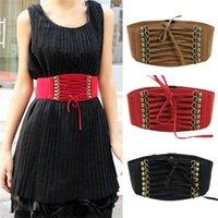 Wholesale Elastic Belting - New Arrivals Lady Women Waistband Belts Strap Buckles Cinch Corset Elastic Skinny Vintage Fashion IX240 Free Shipping