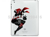 Wholesale New Ipad Decals - Wholesale-New I1023 Black Warrior color sticker removable DIY Decoration Multiple Choice Vinyl Decal Sticker Skin for Apple ipad