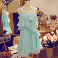 Wholesale Dresses Chiffon Pink Woman - Womens Summer Dresses 2016 Summer Plus Size Women Casual Chiffon Dress Party Evening Elegant Dress White Blue Pink Black