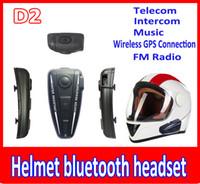 Wholesale Hands Free Bluetooth Motorcycle - helmet bluetooth headset 500M BT Intercom Headset Helmet Bluetooth Interphone For Motorbike Motorcycle hand free Headset Speaker Helmet