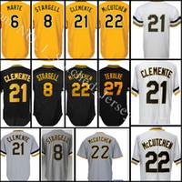 Wholesale Willie Stargell - stitched #22 Andrew McCutchen 21 Roberto Clemente jersey Men 8 Willie Stargell 27 Kent Tekulve 6 Marte 29 Cervelli Baseball jerseys