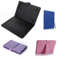 Wholesale Leather Case Keyboard Micro Usb - Universal Micro USB Keyboard PU Leather Case for 7 8 9 10 inch Android Tablet PC MID ePad iRulu Kindle Stand Holder