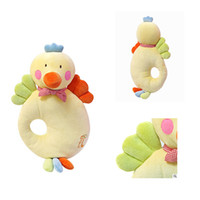 Wholesale cartoon baby chickens - Wholesale- High Quality Baby Head Pillow , Velvet Cartoon Chicken Nursing Pillow , Newborn Baby Comfort Toy Travel Pillow For Infant