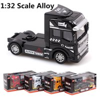 Wholesale Toy Model Pulling Trucks - Wholesale-1:32 scale alloy truck , super truck head, pull back alloy model car, children's toys, free shipping!