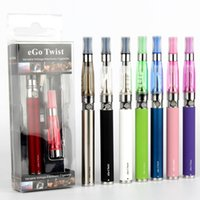 Wholesale Ego C Liquid - EGo-C twist e cigarette ego twist ce4 Clearomizer variable voltage 510 battery vape pen blist pack vpae pens vaporizer for e liquid smok