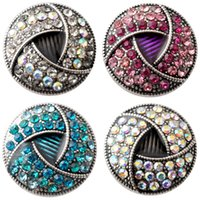 Wholesale Clasp For Rope Chain - D02244 Rivca button for noosa bracelet noosa snaps copper button noosa chunk