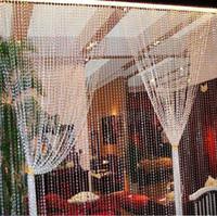 Wholesale Window Decorations Crystals - 1604 1506- 105ft Garland Diamond Strand Acrylic Crystal Bead Wedding Ceremony Stage Backdrop Christmas window decoration -Wholesale