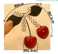 Wholesale Hair Cherries Clips - Cute Girls Women Headwear New Brand Cherry Hairpin Lovely Girl's Bow Hair pin Mix Colors and Styles for choice top jewelry