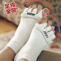 Wholesale Sleeping Hot Massage - 2015 hot sale Comfy Toes Sleeping Socks Massage Five Toe Socks Happy Feet Foot Alignment Socks free shipping