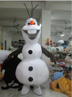 Wholesale Smile Costume - Hot Sale Smiling Frozen Olaf Mascot Costume Fancy Party Dress Suit Free Shipping