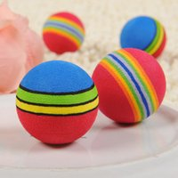hot selling small dog toys soft material chew rainbow balls toys for cat pet products puppy training toy hv0009 uk