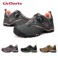 Wholesale Boa Shoes Men - Wholesale-Clorts Outdoor Woman BOA Lacing Boots Man Woman Waterproof Mountain Trekking Shoes 3D016B E