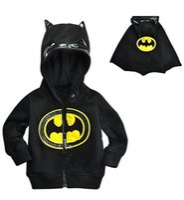 Wholesale Batman Sweatshirt Boys - Baby Boys Captain America Jacket Batman Hoodies and Sweatshirts Children Cartoon Kids Winter Clothes Sweatshirt ZZ-772