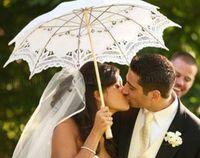 Wholesale Wholesale Battenburg Lace Parasol - Battenburg Lace Parasol and Fan Sun Umbrella Set Bride Adult size Vintage MYY