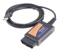 Wholesale bmw usb obd cable - ELM327 USB Plastic OBD II Scanner Cable Wifi Bluetooth Wifi USB Mini 327 USB OBD2 Diagnostic Tool