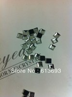 Wholesale Square Crystals 4mm - Wholesale-Free Shipping High 4*4mm Square Hot Fix Rhinestones Flat Back Beads Iron On Crystals MOQ 144pcs
