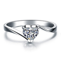 anillo de diamantes chapado en oro venta al por mayor-100% 925 plata esterlina Venta caliente 18K chapado en oro 1 ct SONA anillos de compromiso de diamantes simulados, anillo de plata esterlina para mujer anillo