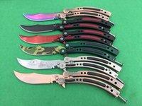 Wholesale Fire Training - 10 models Benm CSGO knife Cross Fire training magic jilt knife Free-swinging Knife xmas gift for man 1pcs