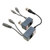 Wholesale Bnc Audio Balun - Wholesale-BNC Coax RJ45 Balun with Audio Video Power over Transceiver Cables Free Shipping