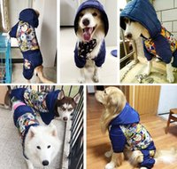 Wholesale Hot Dog Coats - hot sale christmas big winter dog costume printing dog jacket pet coat soft comfortable dog clothes
