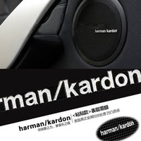 Wholesale Volkswagen Jetta Stickers - harman kardon marked change Speaker decorative stickers For BMW MINI COOPER S Clubman volkswagen vw jetta passat b5 golf mk7