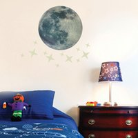 Luminous Glowing Moon Star Wall Decal Sticker Set per Camera dei bambini Camera da letto Decorazione di materiale di alta qualità sicuro da usare