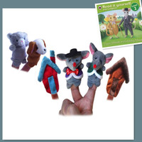 """Wholesale Talking Hand Puppets For Kids - World Fairy Tale-""""Town Mouse And Country Mouse"""" Plush Finger Puppet,Hand puppets For Kids Educational Story Teller Talking Props"""