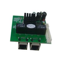Wholesale Rj45 Gigabit - OEM ODM mini size gigabit ethernet switch board 2 port 1000Mbps RJ45 ports and 1 pin header connector 10 100 1000Mbps giga switch pcb module