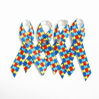 Wholesale 500pcs Autism Awareness Lapel Pins with Butteryfly Puzzle Ribbon Clutch pin