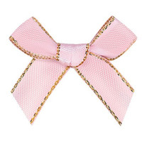 Wholesale grosgrain ribbon 9mm resale online - 9mm Grosgrain ribbon with Gold bow Gift packsg underwear DIY accessories