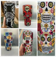 Wholesale Vacuum Shopping - Siqirt Shop For Sale Customize DIY Personalized Skull head Style Patterns 30oz 18 8 cups stainless steel vacuum insulation mugs
