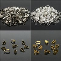 Wholesale Clip Jewelry Parts Wholesale - Pendant Clips & Pendant Clasps, Pinch Clip Bail Pendant Connectors 300PCS LOT. Jewelry Findings DIY jewely parts accessories