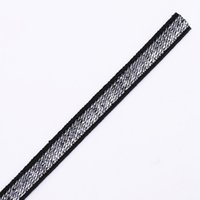 Wholesale Wholesale Polyester Webbing Straps - 7mm Elastic Stretch Black Silver Polyester Webbing Ribbon Tape Band Belt Sewing Supplies Cinta for Cloth Strap 50yd T1215