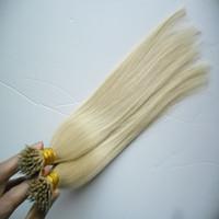 ingrosso marche di tessuti per capelli-Elibess marca nano anello estensioni dei capelli capelli vergini brasiliani, 100% capelli umani non trasformati capelli umani, 1g st 150 s un lotto, dhl libero