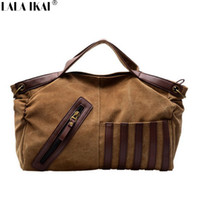 Wholesale-Large Shoulder Bag Casual Unisex Cross Body Bag Grande capacité de livraison gratuite Canvas Sac à main Sac à dos en patchwork BWB0256