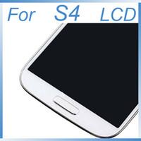 i337 quadro lcd venda por atacado-Tela lcd para samsung galaxy s4 i9500 s9 i9500 i9505 tela lcd + toque digitador + full frame
