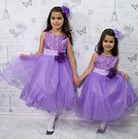 Wholesale Elegant Baby Girl Dress Pictures - 2017 Elegant Sequin Flower Girl Dresses Vintage Girls Pageant Dresses Hot Long Princess Party Infanti Baby Little Girl Prom Dresses Cheap
