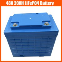 Wholesale 48v Lifepo4 Battery - 48V 1400W LiFePO4 battery 48V 20AH electric bike battery pack 48V Lifepo4   LFP Battery With Plastic housing 58.4V 2A Charger