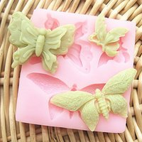 Wholesale Chocolate Butterfly Molds For Fondant - M0072 butterfly silicone fondant cake molds soap chocolate mould for the kitchen baking