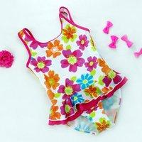 Wholesale Child Bikinis For Sale - Hot Sale Baby Girl Swimwear Flower Print Children One-piece Swimsuit Bebe Meninas Swim Wear Bikini Infant Toddler Girls Beachwear for 2-7Y