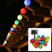 lanternas solares ao ar livre venda por atacado-20 Lanterna Bola Luz Movido A Energia Solar Luzes Cordas de Natal para o Exterior, Pátio, jardim, feriado, festa, casamento String Light Lanternas De Fadas