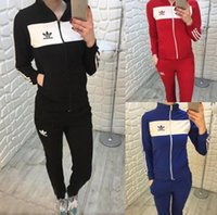 Wholesale Free Style Climbing - Fashionable Popular Style New sport Pure color straight pant leisure long-sleeved two-piece suit leisure sports - Free Shipping + Free Gift